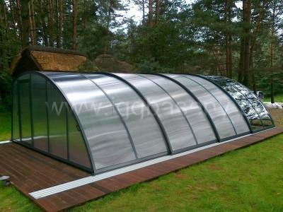 basen ogrodowy zadaszony szkłem pleksą